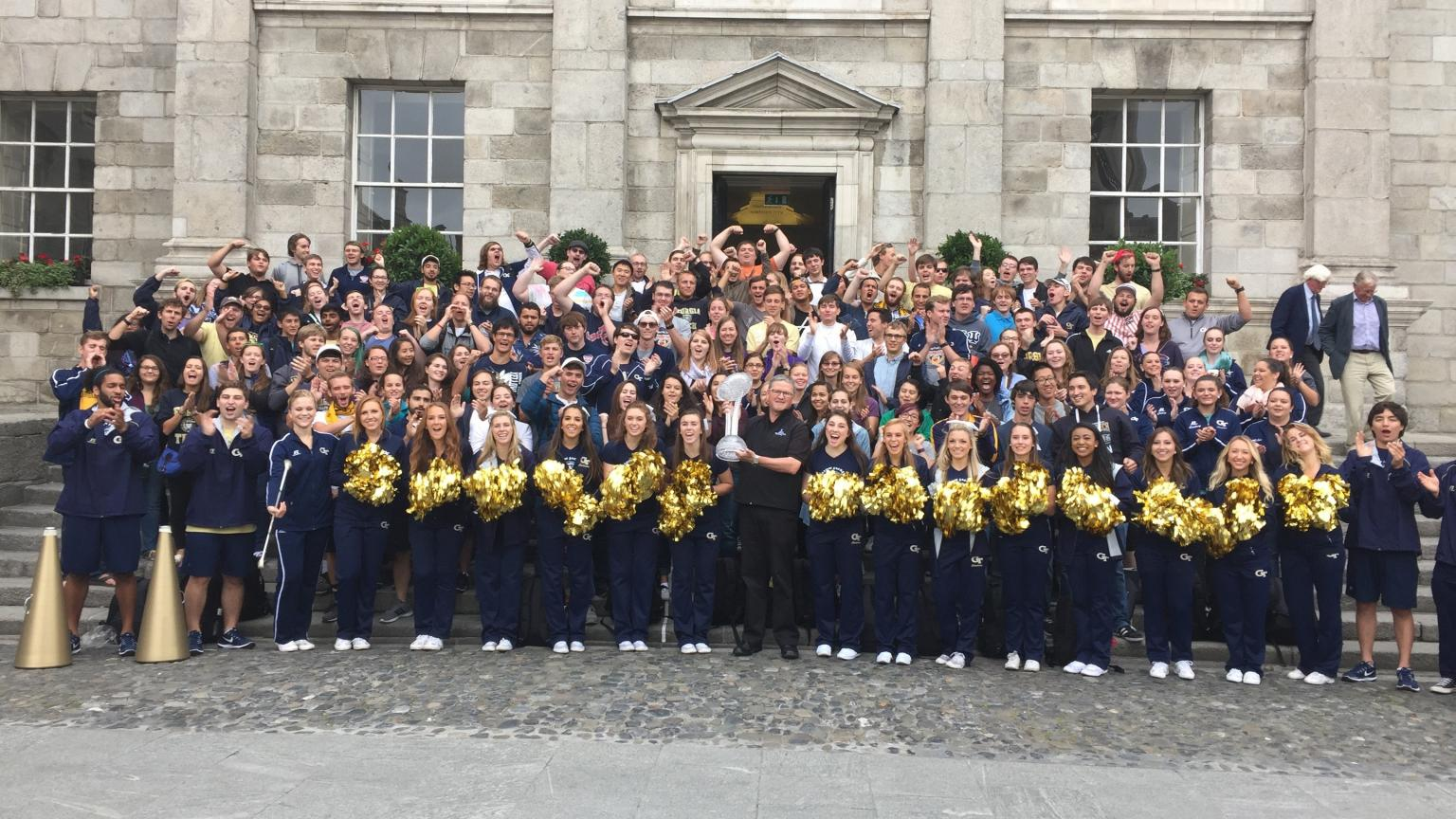 The Marching Band while on a trip to Ireland.