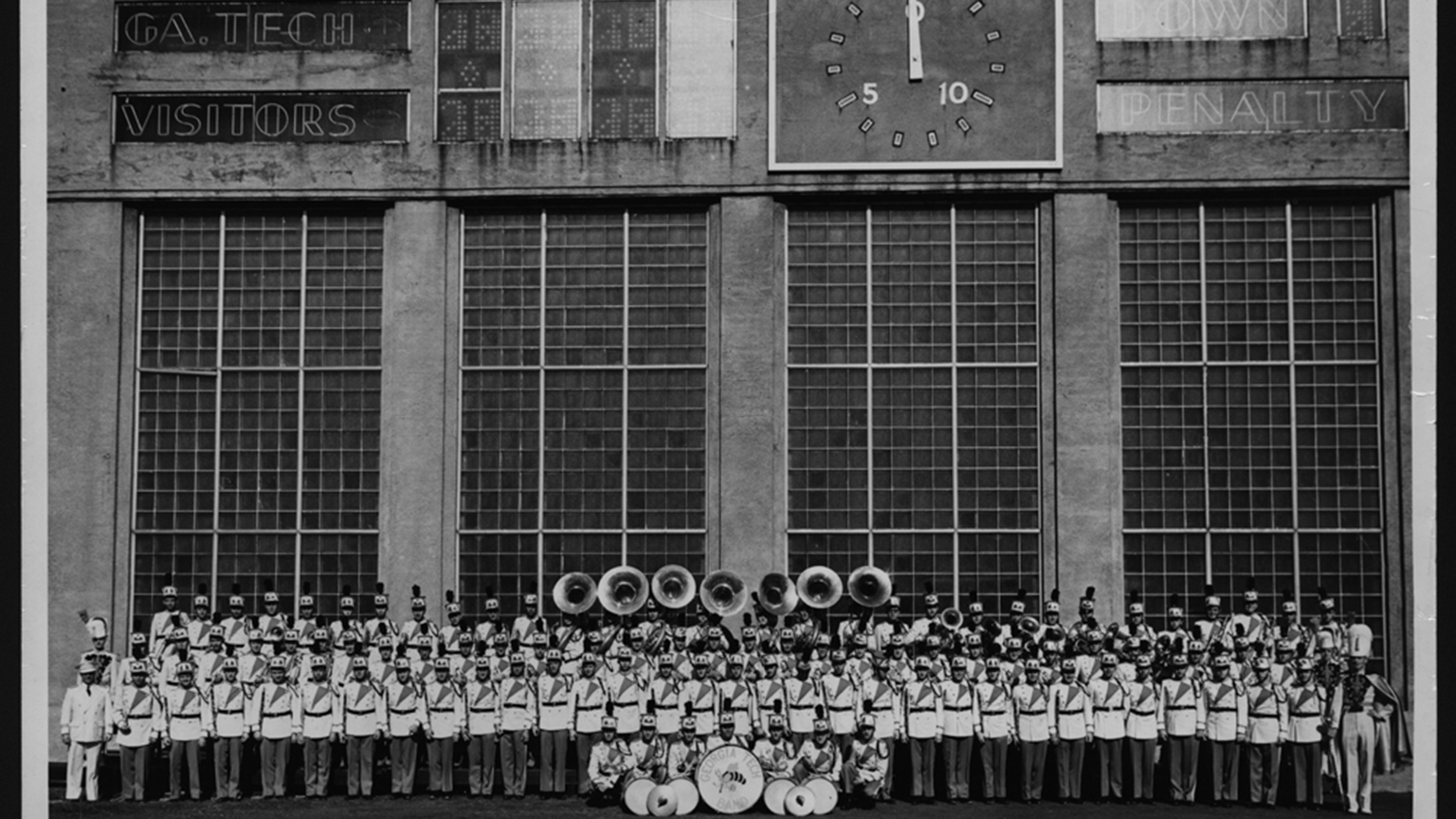 The Band in front of Grant Field